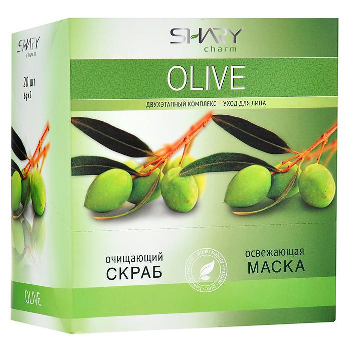 Shary Двухэтапный комплекс-уход для лица Olive: очищающий скраб, освежающая маска, 20x12 г8809270623566Двухэтапный комплекс-уход для лица Shary Olive включает в себя очищающий скраб и освежающую маску. Очищающий кремовый скраб для лица содержит натуральный эксфолиант - микрогранулы из абрикосовых косточек, позволяющий мягко и нежно очистить даже самую чувствительную кожу, не повреждая ее. Легкая текстура скраба деликатно удаляет ороговевшие клетки и загрязнения, ускоряет естественный процесс регенерации, омолаживает и выравнивает кожу. В результате применения кожа выглядит обновленной, цвет лица становится свежим и сияющим. Применение очищающего скраба подготавливает кожу к нанесению освежающей маски и усиливает ее действие. Освежающая маска для лица на основе целебных масел оливы комплексно заботится о коже, делая ее нежной и бархатистой, освежает цвет лица, глубоко питает и защищает от стрессов. Масло оливы насыщает кожу витаминами А, Е, B, D, K, способствует сохранению эластичности, улучшает регенерацию клеток и препятствует появлению морщин. Экстракт розмарина...