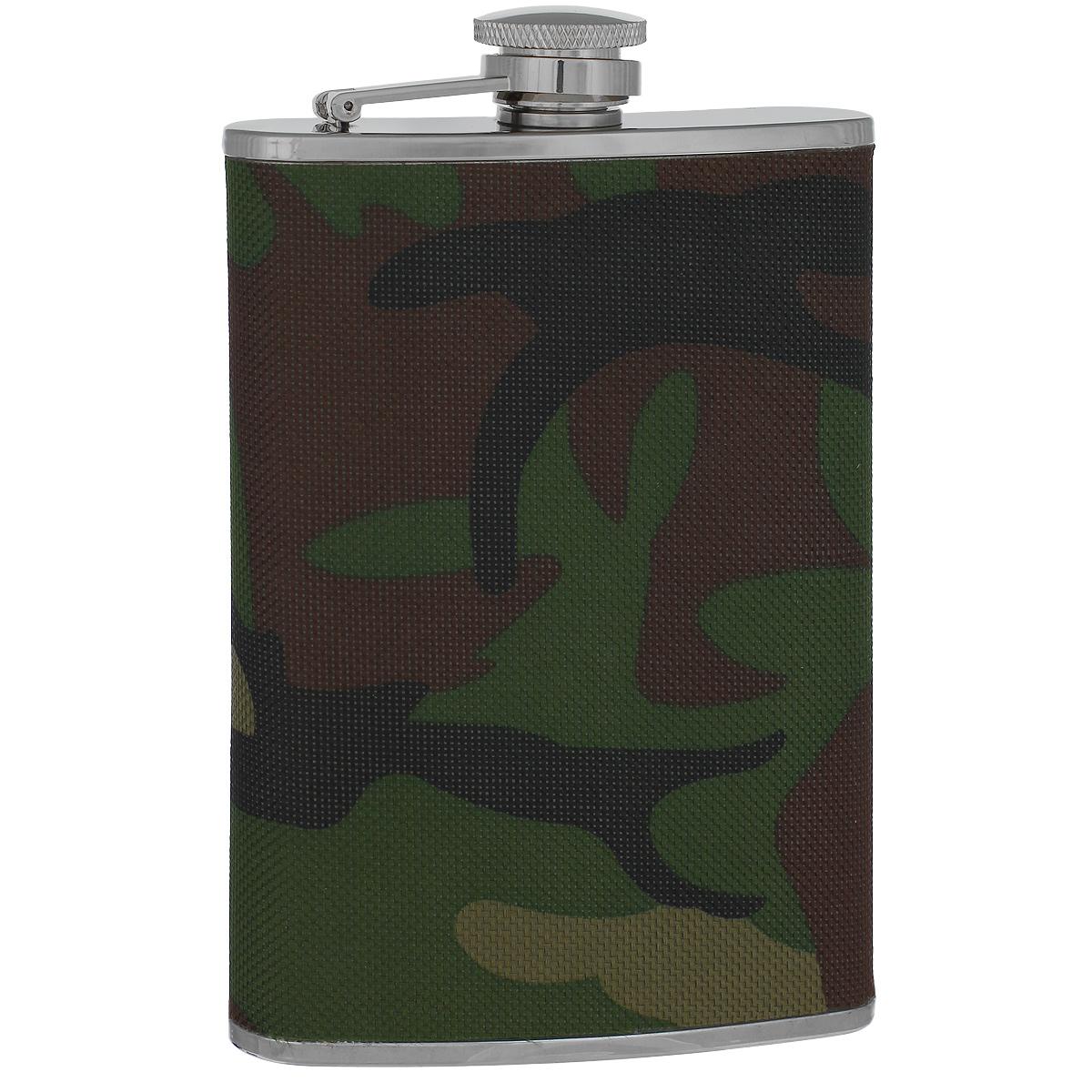 Фляга S.Quire Камуфляж, 240 мл411-400 зелёныйФляга S.Quire изготовлена из нержавеющей стали 18/10 и оформлена текстильной вставкой с рисунком камуфляж. Фляга специально предназначена для хранения алкогольных напитков. Ее нельзя использовать для напитков, содержащих кислоту, таких как сок и сердечные лекарства. Крышка плотно закрывается, предотвращая проливание. Фляга S.Quire - идеальный подарок для настоящих мужчин. Стильный дизайн, компактность и качество изделия, несомненно, порадуют любого мужчину.