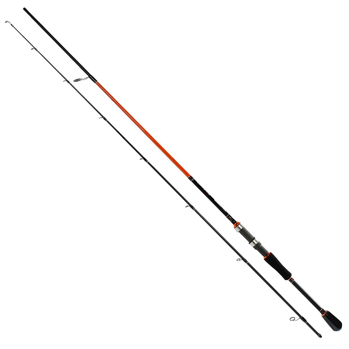 Удилище спиннинговое Team Salmo TRENO, 2,31 м, 4-18 гTSTR4-762FСерия спиннингов TRENO разработана специально для ловли хищной рыбы твичингом и на джиг-приманки. Бланки этой серии изготовлены из усовершенствованного высокомодульного графита 40T, обеспечивающего максимальную прочность, а также высокую чувствительность по всему заявленному тестовому диапазону. Строй бланков быстрый и экстра быстрый. Бланк в основании достаточно толстый, что дает преимущества не только при вываживании крупной рыбы, но и при рывковой проводке воблеров. Несмотря на относительно небольшую длину, спиннинги TRENO обладают отличными бросковыми характеристиками. Спиннинги укомплектованы пропускными кольцами Fuji K-guide со вставками SIC. Наклоненные колечки на вершинке - раннинги и противозахлестный тюльпан, не позволят запутаться за них в сильный ветер даже мягкому PE шнуру. В элегантной и практичной разнесенной рукоятке, из прочного материала EVA, установлен катушкодержатель VSS от Fuji с задней гайкой крепления. Материал ручек жесткий и приятный на ощупь.
