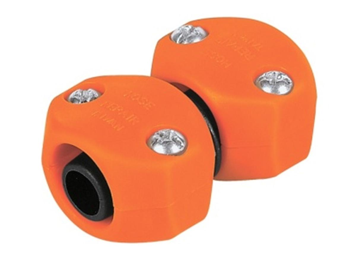 Коннектор ремонтный для шланга Truper, пластиковый, папа-мама, 5/8-3/4REMA-5/8-3/4Шланговый коннектор Truper, выполненный из пластика, предназначен для быстрого и многократного присоединения и отсоединения шланга к насадкам или крану. Тип соединения папа-мама.