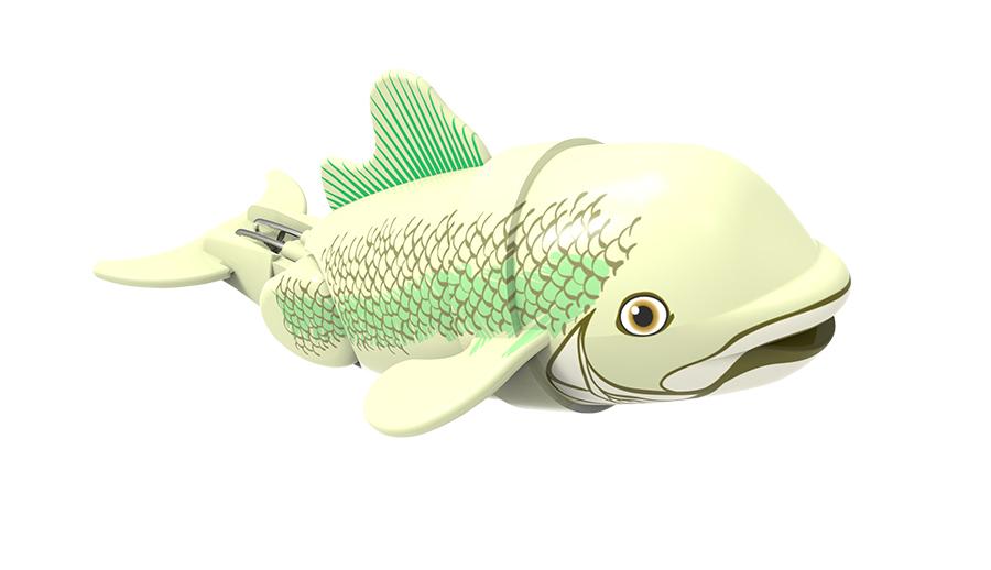 Игрушка для ванны Renwood Рыбка-акробат Бубба, цвет: светло-зеленый, зеленый