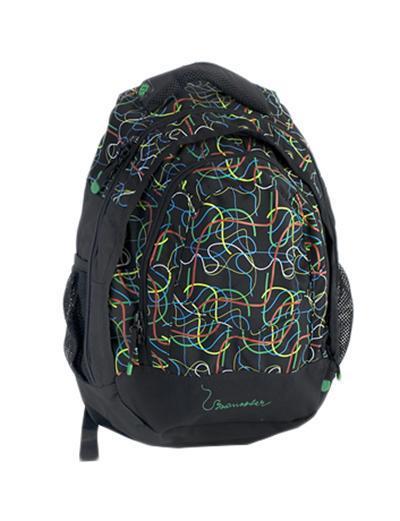Рюкзак детский BagMaster BM-NIE 15 BBM-NIE 15 BСтуденческий рюкзак из полиэстера с тремя внутренними отделениями и отделением для ноутбука с диагональю 15,4 дюйма. Во внутренние отделения помещаются альбомы, тетради, контурные карты и так далее формата А4. Анатомическая спинка из воздухопроницаемого м