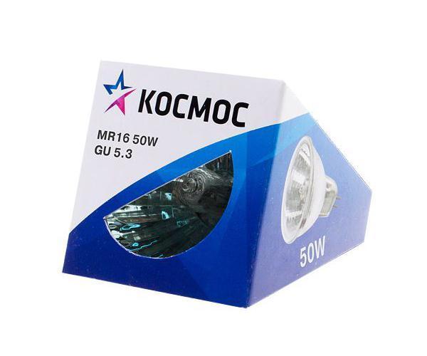 Лампа галогенная Космос. Модель MR16 50W 12V GU5.3NN-604-LS-BUГалогенная лампа Космос выполнена с отражателем и защитным стеклом, которое обеспечивает безопасность эксплуатации лампы, предохраняя внутреннюю капсулу и отражатель от попадания пыли. Колба лампы изготовлена из кварцевого стекла с добавками, экранирующими УФ-излучение. Особенности галогенной лампы Космос стабильный и ровный световой поток на протяжении всего срока службы яркий белый свет, его четкая направленность компактный размер высокий коэффициент цветопередачи срок службы в 2 раза дольше, чем у обычной лампы накаливания стекло защищает от ультрафиолетового излучения. Характеристики:Модель:MR16 50W 12V GU5.3. Материал:стекло, металл. Диаметр: 5 см. Общая длина:4,5 см. Тип цоколя:GU5.3. Мощность:50 Вт. Средний срок службы:2000 часов. Напряжение:12 В. Размер упаковки: 5 см х 5 см х 5 см. Производитель: Россия. Изготовитель: Китай.Российская марка Космос была создана в 2000 году, чтобы обеспечить вас качественными и доступными электротоварами. Продукция под маркой Космос производится на лучших заводах шести стран мира: России, Украины, Белоруссии, Китая, Кореи и Японии. Перед тем как попасть на магазинные полки, лампы проходят многоуровневый контроль качества, осуществляемый независимой международной лабораторией. Лампы Космос соответствуют международным стандартам качества ISO 9001 и, наряду с российским сертификатом соответствия РосТест, имеют европейский сертификат RoHS, СЕ.Срок службы ламп Космос 10 000 часов, что в 10 раз больше обычной лампы накаливания!