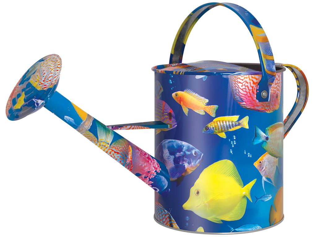 Лейка садовая Рыбки, цвет: голубой, 5 л. 1038-5-121038-5-12