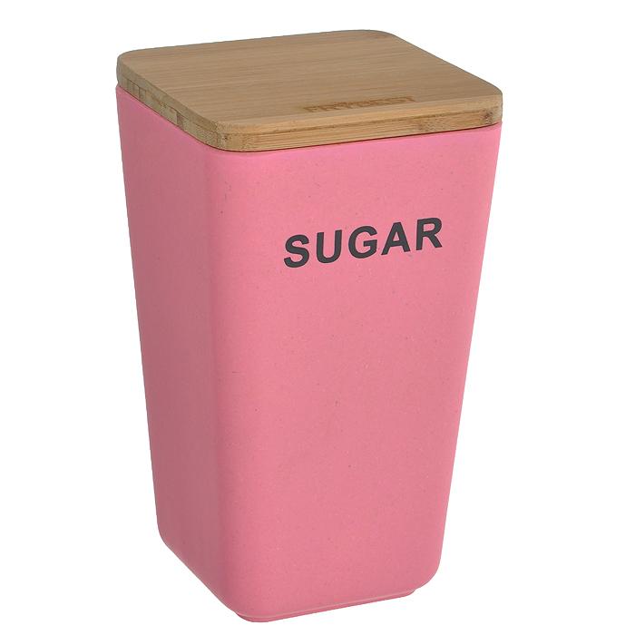 Контейнер для сыпучих продуктов Frybest Bamboo, цвет: розовый, высота 19 смBM-06-3Контейнер для сыпучих продуктов Frybest Bamboo изготовлен из бамбукового волокна - экологически чистого материала, который не содержит примесей и токсинов, что важно для здоровья человека. Кроме того, это биоразлагаемый материал, который не вредит окружающей среде. Контейнер с надписью Sugar специально предназначен для хранения сахара, но в нем также можно хранить крупы, специи, кофе, сухофрукты, орехи и другие сыпучие продукты. Изделие оснащено плотно закрывающейся деревянной крышкой с силиконовой прослойкой, что обеспечивает герметичность и дольше сохраняет продукты свежими. Натуральная посуда из бамбукового волокна поможет собрать за одним столом большую компанию. А яркие и красочные цвета станут отличным украшением к детскому празднику! Можно использовать при температуре от -20°С до +70°С. Максимальное использование при температуре +70°С не более двух часов. Не использовать в микроволновой печи.