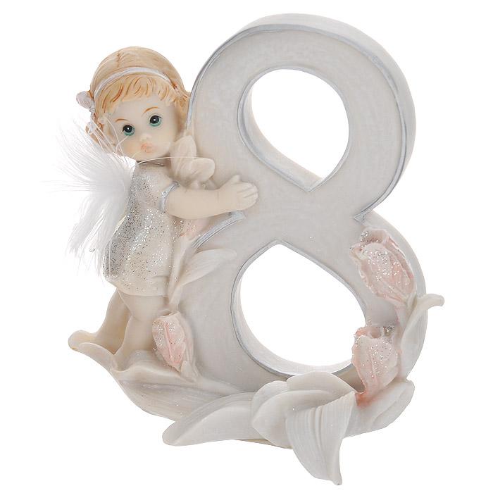 Статуэтка Molento Именинный ангелочек. 8 лет514-961Статуэтка Molento Именинный ангелочек. 8 лет, выполненная из полистоуна, станет отличным подарком для вашего малыша! Все мы знаем, как порой непросто бывает выбрать подходящий подарок к тому или иному торжеству, а декоративные статуэтки Molento всегда были и останутся оригинальным подарком. Этот вид сувенира нельзя назвать бесполезной вещью. Статуэтка может стать великолепным украшением интерьера. Статуэтка является подарком на все времена, подобная вещь никогда не выйдет из моды. Спустя годы она будет только радовать владельца своими изящными формами и плавными линиями.