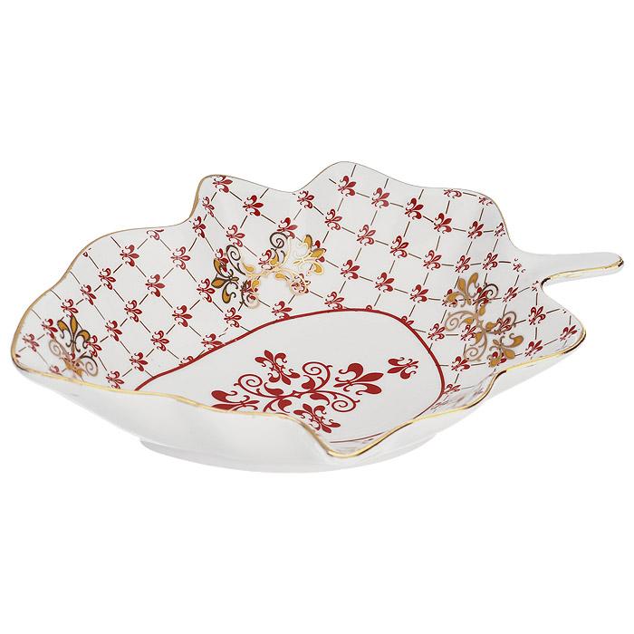 Салатник Briswild Маркиза, 19,5 см х 14,5 см589-139Салатник Briswild Маркиза выполнен из высококачественного фарфора в виде листочка. Изделие оформлено красочным узором, по краю украшен золотистой окантовкой. Салатник предназначен для сервировки салатов, закусок и других блюд, а также фруктов. Функциональность, эстетичность и современный дизайн сделают салатник прекрасным дополнением к вашему кухонному инвентарю.