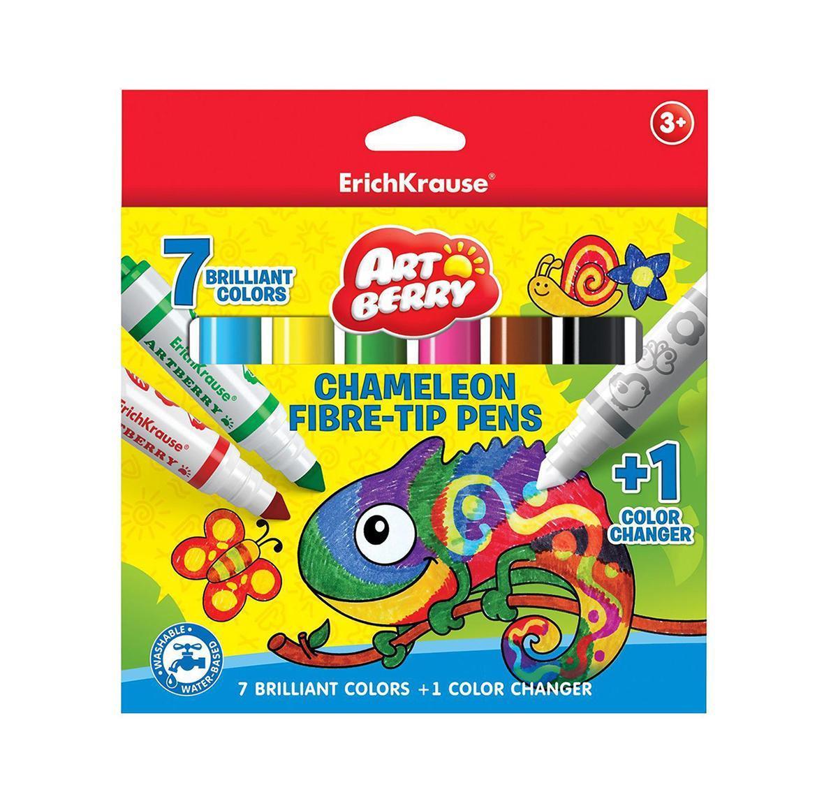 Фломастеры Хамелеон Jumbo Artberry 8цв (7+1)34956Не рекомендуется детям до 3-х лет.