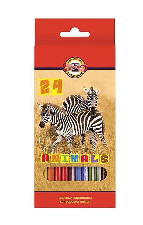 Цветные карандаши Животные, 24 цвета72523WDЦветные карандаши Животные непременно, понравятся вашему юному художнику. Набор включает в себя 24 ярких насыщенных цветных карандаша, которые идеально подходят для малышей. Шестигранный корпус изготовлен из натуральной древесины. Карандаши имеют прочный неломающийся грифель, не требующий сильного нажатия и легко затачиваются. Порадуйте своего ребенка таким восхитительным подарком!