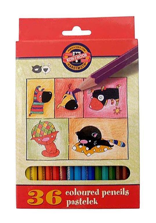 Цветные карандаши Собаки и Кошки, 36 цветов3595/36 5 KSЦветные карандаши Собаки и Кошки непременно, понравятся вашему юному художнику. Набор включает в себя 36 ярких насыщенных цветных карандашей, которые идеально подходят для малышей. Шестигранный корпус изготовлен из натуральной древесины. Карандаши имеют прочный неломающийся грифель, не требующий сильного нажатия и легко затачиваются. Порадуйте своего ребенка таким восхитительным подарком!
