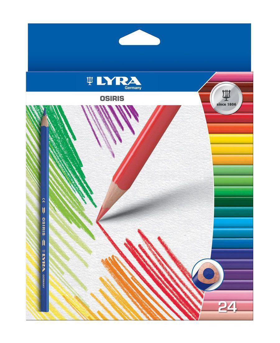 Цветные карандаши Lyra Osiris, 24 цветаL2521240Цветные карандаши Lyra Osiris непременно, понравятся вашему юному художнику. Набор включает в себя 24 ярких насыщенных цветных карандаша треугольной формы для удобного захвата. Идеально подходят для школы. Карандаши изготовлены из дерева, экологически чистые, с лакированным покрытием. Имеют прочный неломающийся грифель, не требующий сильного нажатия и легко затачиваются. Порадуйте своего ребенка таким восхитительным подарком! В комплекте: 24 карандаша.