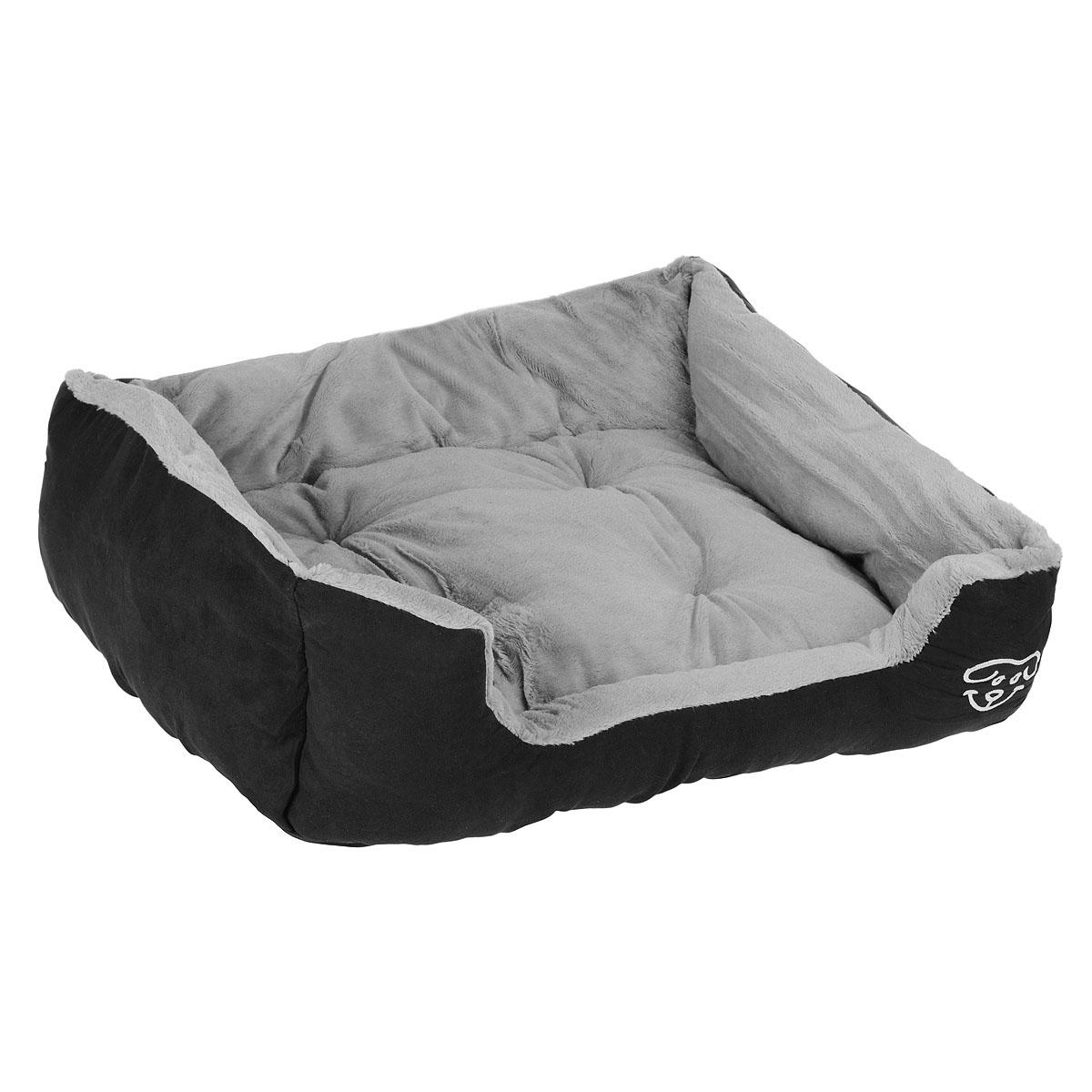 Лежак для собак I.P.T.S. Doomba, 65 см х 60 см х 20 см25965Лежак I.P.T.S. Doomba станет излюбленным местом отдыха вашего четвероногого друга. Даже самому своенравному питомцу понравится этот уютный мягкий уголок для сна. Лежак имеет форму диванчика с мягкими бортиками и выполнен в приятных черно-серых оттенках. Сочетание этих нейтральных цветов впишется в интерьер, и изделие будет одинаково хорошо смотреться как в гостиной, так и в другой комнате. Товар сертифицирован.