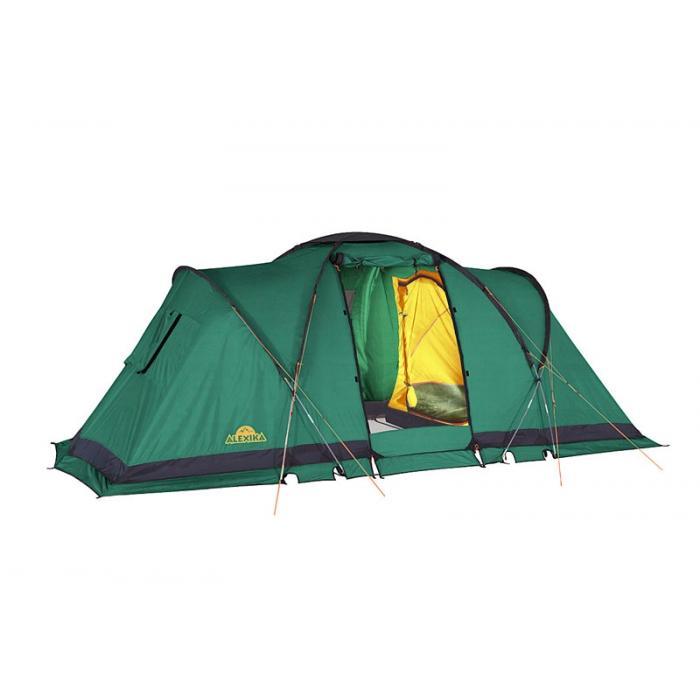 Палатка Alexika Indiana 4 Green891980.30Данная модель кемпинговой палатки - одна из самых популярных в последнее время среди туристов. Ей отдают предпочтение как семьи, отправляющиеся на природу, так и молодежные компании. Площадь палатки позволяет свободно разместиться в ней 4 людям, обеспечивая им комфортный отдых. Кемпинговая палатка ALEXIKA INDIANA 4 состоит из двух двухместных спален. В соединяющем две спальни помещении может полноценно стоя расположиться взрослый человек, так как его высота в этом месте достигает 180 см. Эта модель палатки дает возможность нескольких вариантов использования внутреннего пространства, так как спальни могут подвешиваться изнутри. Вы можете соорудить в ней как две спальни, так и одну, отпустив оставшееся пространство под столовую или склад. Палатку INDIANA 4 удастся установить даже в ветреную и дождливую погоду, так как ее монтаж начинается с внешнего тента. Еще одно преимущество модели - компактность в сложенном виде. Палатка оснащена всеми необходимыми элементами кемпингового жилища. В ней предусмотрена противомоскитная сетка, система фильтрации, карманы, петля для фонарика. Благодаря герметизации швов внутрь палатки не попадет ни капли влаги. Кроме этого палатка отличается хорошей ветроустойчивостью. В комплекте предусмотрен съемный пол для тамбурной части. Вес: 14,3 кг. Количество мест: 4. Сезонность: весна-осень. Размер: 460 x 240 x 180 см. Размер в чехле: 68 х 26 см. Материал тента: Polyester 190T PU 4000 mm. Материал дна: Polyester 150D Oxford PU 6000 mm. Внутренняя палатка: есть. Материал дуг: Durapol 11 mm. Ветроустойчивость: средняя. Количество входов: 1. Цвет: зеленый. Область применения: кемпинг. Технологии:Пропитка, задерживающая распространение огня. Швы герметизированы термоусадочной лентой. Нагруженные элементы палатки усилены специальным материалом. Ветрозащитный полог по периметру прошит прочной стропой. Молнии на внешнем тенте фиксируются алюминиевыми крючками. Внутренняя палатка оснащена противомоскитной сеткой