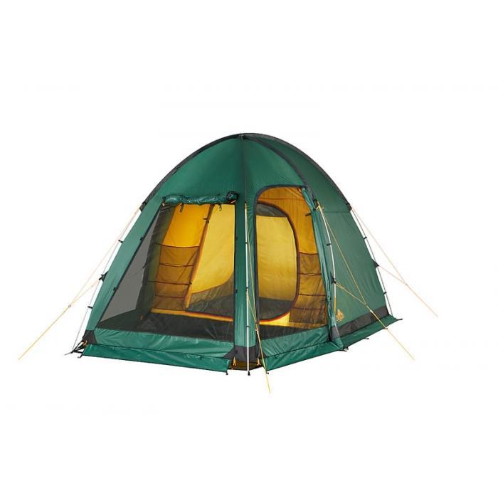 Палатка Alexika Minnesota Alu 3 Luxe 9153.3101, цвет: зеленый9153.3101Эта палатка - идеальный выбор для семьи, состоящей из 3-х человек. С ней вам не придется размышлять, где расположиться самим, а куда пристроить свои вещи. Палатка оснащена просторным тамбуром, который может подойти для обустройства походной кухни. В стенке тамбура имеется прозрачная вставка. В комплекте предусмотрено дно для тамбурного отделения. В палатке MINNESOTA 3 LUXE Alu имеется три входа, каждый из них защищен противомоскитной сеткой. Поэтому спокойные ночи без надоедливого жужжания насекомых вам обеспечены. Для защиты от ветра по периметру палатки располагается «юбка». В местах, на которые приходятся серьезные нагрузки, используется более прочная ткань. MINNESOTA 3 LUXE Alu выделяется среди аналогичных палаток тщательно продуманной системой вентиляции. Ее эффективность достигается за счет наличия вентиляционного окна (располагается в верхней части купола) с ветровым клапаном и торцевого окна, дополненного внешней шторкой на молнии. Для изготовления тента используется...