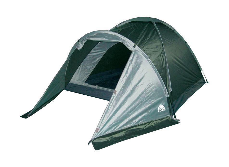 Палатка трехместная Trek Planet Toronto 3, цвет: темно-зеленый, оливковый70132Однослойная трехместная палатка с тамбуром Trek Planet Toronto 3, самая легкая и быстрая в установке палатка. Особенности модели: Палатка легко и быстро устанавливается, Палатка оснащена вместительным и защищенным от непогоды тамбуром, Тент палатки из полиэстера, с пропиткой PU водостойкостью 1000 мм, надежно защитит от дождя и ветра, Все швы проклеены, Каркас выполнен из прочного стекловолокна, Дно изготовлено из прочного армированного полиэтилена, Вентиляционное окно сверху палатки не дает скапливаться конденсату на стенках палатки, Москитная сетка на входе в спальное отделение в полный размер двери, Внутренние карманы для мелочей, Возможность подвески фонаря в палатке. Палатка упакована в сумку-чехол с ручками, застегивающуюся на застежку-молнию. Размер в сложенном виде: 13 см х 13 см х 63 см.