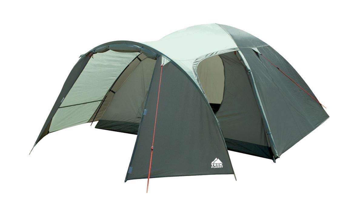 Палатка Trek Planet Cuzco 4 четырехместная70183Четырехместная палатка Trek Planet Cuzco 4 с хорошей вентиляцией и большим тамбуром, подходит для длительного путешествия. Особенности модели: Простая и быстрая установка. Тент палатки из полиэстера, с пропиткой PU водостойкостью 3000 мм, надежно защищает от дождя, все швы проклеены. Дно палатки из прочного полиэстера Oxford водостойкостью 6000 мм. Каркас из жестких, прочных и легких композитных дуг (Durapol). Просторный тамбур с двумя входами. Боковая дверь тамбура закрывается молнией, спрятанной под внешним тентом, что препятствует попаданию влаги через молнию во время дождя. Внутренняя палатка из дышащего полиэстера, обеспечивает вентиляцию помещения и позволяет конденсату испаряться, не проникая внутрь палатки. Вентиляционное окно. Удобная D-образная дверь с москитной сеткой в полный размер на входе во внутреннюю палатку. Внутренние карманы для мелочей. Возможность подвески фонаря в палатке. Для...