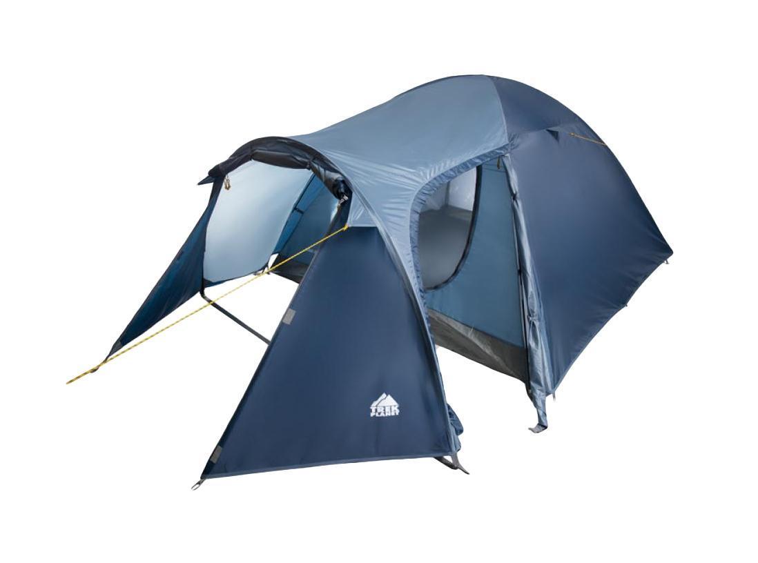Палатка трехместная Trek Planet Lima 3, цвет: синий70180(н)Двухслойная трехместная палатка Trek Planet Lima 3 с хорошей вентиляцией и большим тамбуром, хорошо подойдет для кемпинга выходного дня или отдыха на природе с семьей. Особенности модели: Палатка легко и быстро устанавливается, Тент палатки из полиэстера, с пропиткой PU водостойкостью 2000 мм, надежно защитит от дождя и ветра, Все швы проклеены, Внутренняя палатка, выполненная из дышащего полиэстера, обеспечивает вентиляцию помещения и позволяет конденсату испаряться, не проникая внутрь палатки, Просторный тамбур с двумя входами, Москитная сетка на входе в спальное отделение в полный размер двери, Вентиляционное окно, Каркас выполнен из прочного стеклопластика, Дно изготовлено из прочного армированного полиэтилена, Внутренние карманы для мелочей, Возможность подвески фонаря в палатке. Палатка упакована в сумку-чехол с ручками, застегивающуюся на застежку-молнию. Размер палатки (в собранном...