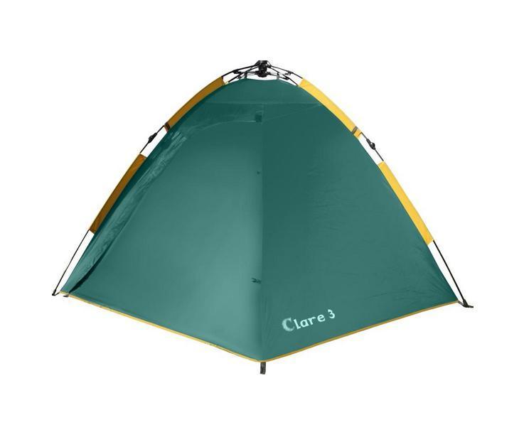 Палатка GREENELL Клер 3 V2, цвет: зеленый, 95280-303-00GESS-725Самый быстрый переход к полноценному отдыху Двухслойная дуговая палатка с полуавтоматическим каркасом. Один тамбур и два вхо- да. Внутренняя палатка и тент устанавливаются одновременно. Легко ставиться одним чело- веком. Минимум времени для установки и сборки. Q-образный вход продублирован сеткой.Улучшенная сквозная вентиляция. Проклеенные швы. Облегченная регулировка оттяжек сосветовозвращающей нитью. Цвет: Зеленый. Сезон: лето.