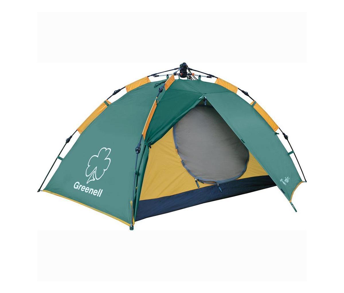 Палатка Greenell Трале 2V2 Green95282-303-00Легкая палатка для тех кто ценит время Двухслойная дуговая палатка с полуавтоматическим каркасом. Один вход и тамбур. Вну- тренняя палатка и тент устанавливаются одновременно. Легко ставиться одним человеком. Минимум времени для установки и сборки. Проклеенные швы. Противомоскитная сетка. Q-образный вход продублирован сеткой. Улучшенная вентиляция. Облегченная регулировка оттяжек со световозвращающей нитью. Цвет: Зеленый. Сезон: лето.