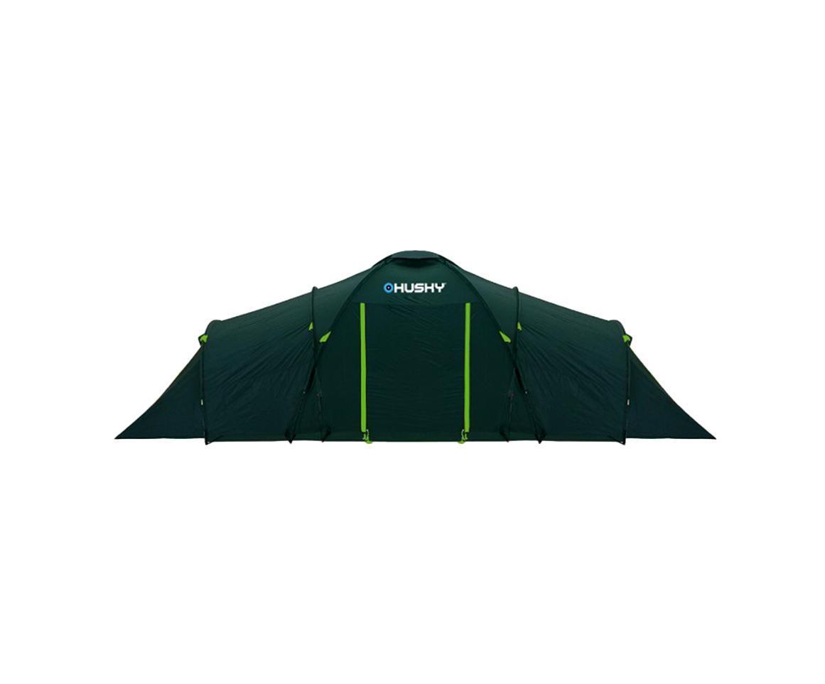 Палатка Husky Boston 8 Dark Green, цвет: темно-зеленыйУТ-000047153Кемпинговая палатка Boston 8 отлично подойдет для путешествий. Палатка рассчитана на 8 человек, состоит из двух внутренних и одного общего внешнего тента. В палатке предусмотрены четыре входа. В комплекте компрессионный мешок и противомоскитные сетки. Палатка комплектуется усиленными стекловолоконными дугами. Характеристики: Максимальная высота палатки: 185 см. Максимальная ширина палатки: 260 см. Общая длина палатки: 690 см. Длина спальни: 240 см. Длина тамбура: 210 см. Размер в сложенном виде: 65 см х23 см. Материал внешнего тента: полиэстер 185. Материал внутреннего тента: нейлон 190Т. Материал пола: полиэтилен. Вес: 12500 г. Артикул: Boston 8. Изготовитель: Китай.