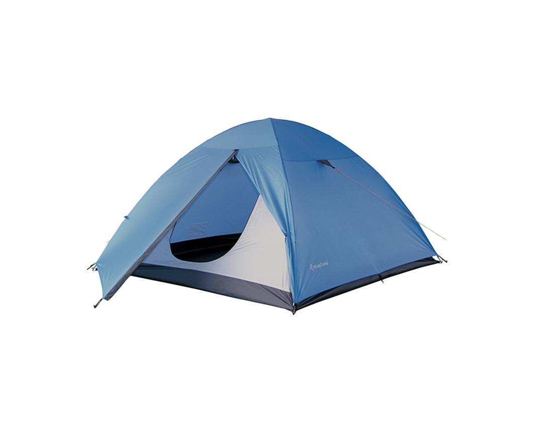 Палатка KingCamp Hiker 3 BlueУТ-000050891Палатка KingCamp Hiker 3 с вентиляционной и противомоскитной сеткой представляет собой однокомнатную палатку с одним входом и одним тамбуром и предназначена для пешего туризма и кемпинга. Внутренняя палатка выполнена из полиэстера, швы наружного тента проклеены. Вы несомненно оцените скорость, с которой может быть установлена эта палатка, и ее маленький транспортный объем. Идеально подходит для трех непривередливых туристов. Палатка упакована в чехол. К палатке прилагаются - 16 колышков из стали, 6 строп для укрепленной растяжки. Характеристики: Количество мест: 3. Размер палатки: 285 см х 215 см х 125 см. Спальная комната: 215 см х 215 см. Количество входов: 1. Дуги из фибергласа: 8,5 мм. Материал внешнего тента: Polyester 185T 3000 mm с PU покрытием. Материал внутреннего тента: Polyester 180Т. Материал дна: Polyester 150D Oxford с PU покрытием 5000 mm. Размер палатки в собранном виде: 53 см х 15 см х 15 см. ...