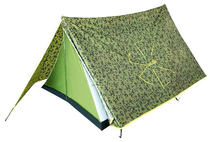 Палатка Norfin Tuna 2 CamoNC-10103Современный дизайн классической, проверенной временем двускатной палатки. Легкая, компактная, простая в сборке. Идеальна для рыболовов и охотников. Особенности: -вход один; -вход продублирован антимоскитной сеткой; -кармашки для мелочей; -крючок для подвески фонаря; -все швы палатки герметизированы при помощи термоусадочной водонепроницаемой ленты; -петли для фиксации скатанного входа. Материал тента: Polyester 190T 70D PU; Материал внутренней палатки: 190T Polyester дышащий; Материал дна: PE 120 г/м2; Материал дуг: сталь, 16 мм.