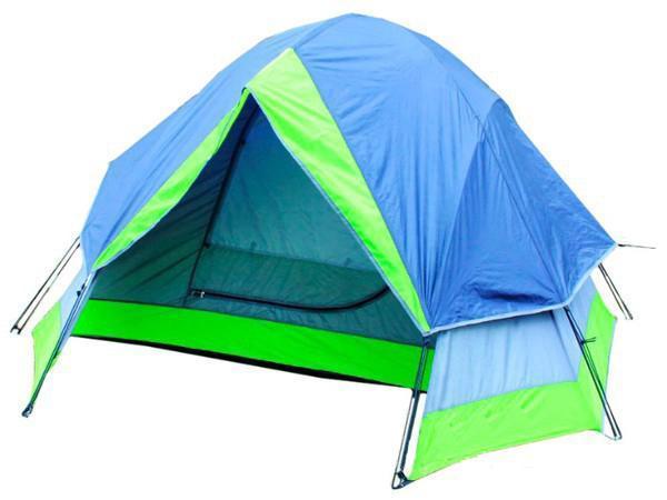 Палатка Reking TK-121 BlueTK-121Палатка двухместная Reking - классическая двухслойная палатка для несложных походов и отдыха на природе. Проклеенные швы гарантируют герметичность и надежность в любой ситуации. Материал тента: 190PU полиэстер; Материал дна: РЕ; Материал дуг: фибергласс, 7,9 мм, 8,5 мм.