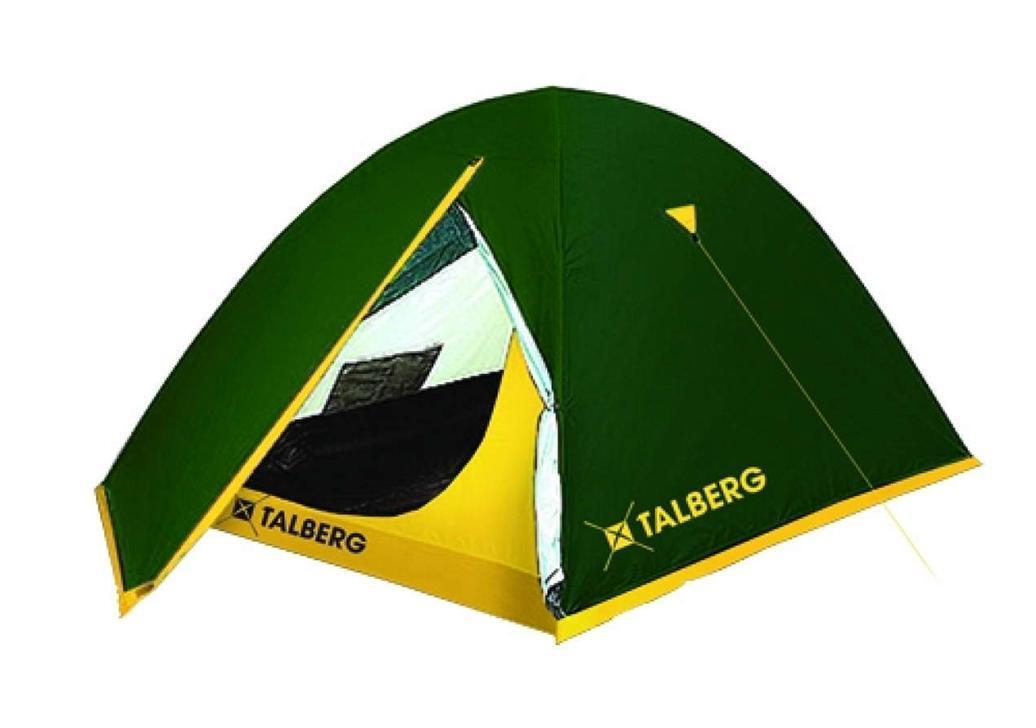 Палатка Talberg Sliper 3УТ-000052501Легкая двухслойная палатка Talberg Sliper 3 с двумя тамбурами и внутренним расположением дуг предназначена для пешего туризма и кемпинга. Внутренняя палатка выполнена из дышащего полиэстера, швы наружного тента проклеены. Вы несомненно оцените скорость, с которой может быть установлена эта палатка. Идеально подходит для трех туристов. Палатка упакована в сумку-чехол на застежке-молнии. Также прилагается инструкция по сборке палатки. Характеристики: Количество мест: 3. Размер палатки: 320 см х 230 см х 120 см. Спальная комната: 220 см х 180 см х 120 см. Количество входов: 2. Дуги: HQ FiberGlass 8,5 мм. Материал внешнего тента: Polyester RipStop 190T/75D 4000 мм. Материал внутреннего тента: полиэстер. Материал дна: Polyester 195T/85D 7000 мм. Размер палатки в собранном виде: 58 см х 16 см х 15 см. Вес: 3,3 кг. Изготовитель: Китай.