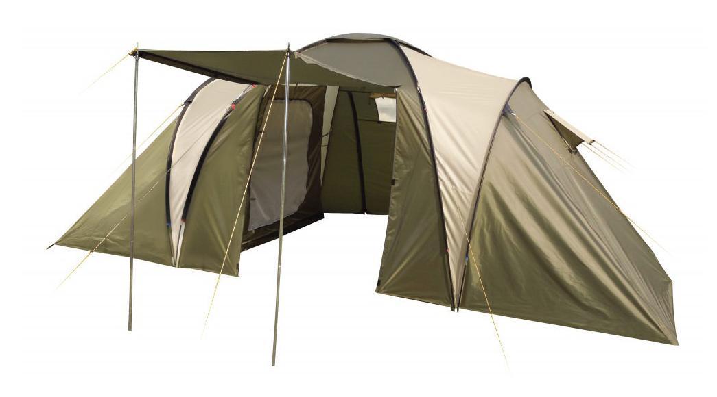 Палатка четырехместная TREK PLANET Idaho Twin 4, цвет: светлый хаки, хаки.70223Четырехместная двухслойная семейная палатка TREK PLANET Idaho Twin 4 с двумя спальными отделениями, отличной вентиляцией и большим внутренним помещением между спальными отделениями - отличный выбор для семейного кемпинга и отдыха на природе. Особенности модели: - Размер внутренней палатки: 220 см х 140 см х 150 см; - Тент палатки из полиэстера с пропиткой PU надежно защищает от дождя и ветра; - Все швы проклеены; - Большое и высокое внутреннее помещение между спальными отделениями палатки, где свободно размещается кемпинговый стол и стулья на 4 человек; - Обзорное окно со шторкой во внутреннем помещении; - Эффективная потолочная система вентиляции в тамбуре; - Большой выносной козырек на металлических стойках; - Дно из прочного водонепроницаемого армированного полиэтилена позволяет устанавливать палатку на жесткой траве, песчаной поверхности, глине и т.д.; - Дуги из прочного стекловолокна; - Внутренние палатки из...