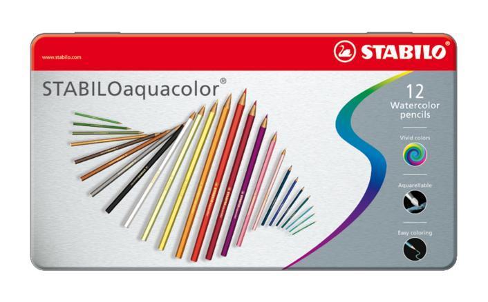 Карандаши цветные акварельные Stabilo Aquacolor в металлическом футляре, 12 цветов72523WDДля создания рисунков с эффектом акварельных красок, надо растушевать рисунок кистью с водой или увлажнить бумагу перед рисованием. Идеально подходит для рисования в качестве классического цветного карандаша благодаря насыщенным цветам и мягкому грифелю, обеспечивающему легкость нанесения и отличную смешиваемость цветов. STABILO aquacolor в наборах 12 цветов в металлическом футляре. Характеристики:Материал:дерево. Диаметр карандаша:0,7 см. Диаметр грифеля:2,5 мм. Длина карандаша:9,5 см. Размер упаковки:18 см х 10 см х 1 см. Изготовитель:Германия.