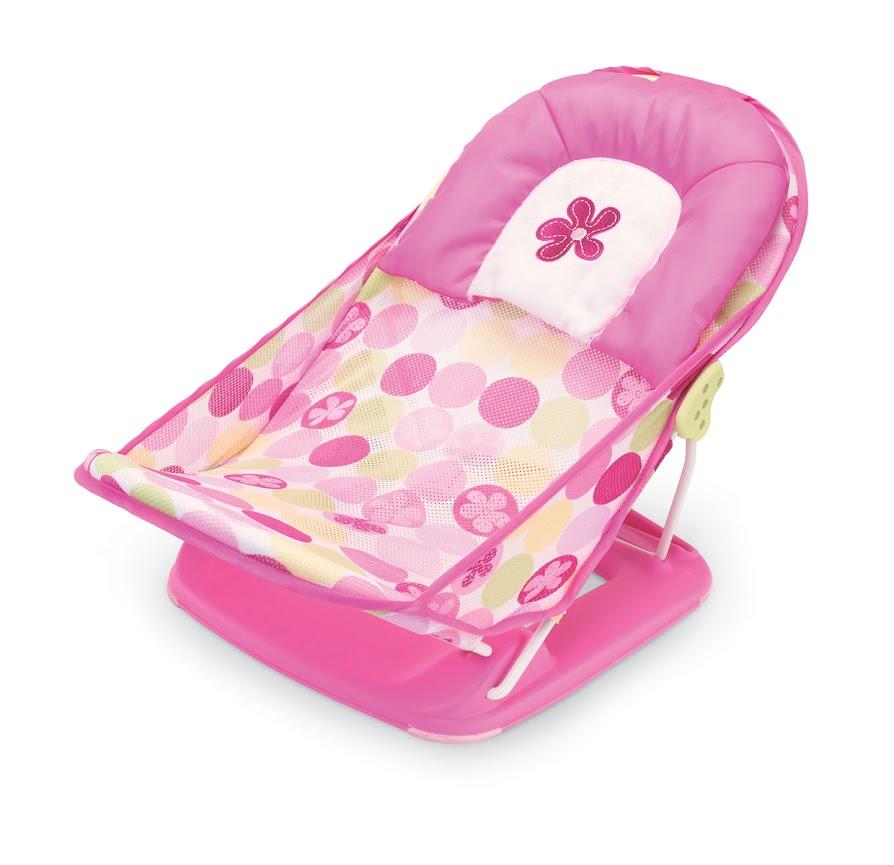 Лежак с подголовником для купания Summer Infant Deluxe Baby Bather, цвет: розовый 18515