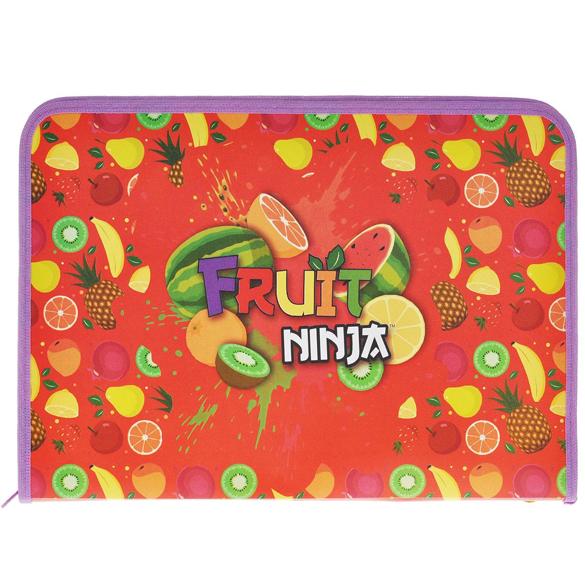 Папка для труда Action! Fruit Ninja, цвет: красный, сиреневыйFN-FZA4-LПапка для труда Action! Fruit Ninja предназначена для хранения тетрадей, рисунков и прочих бумаг, а также ручек, карандашей, ластиков и точилок. Папка оформлена изображениями фруктов и надписью Fruit Ninja. Внутри находится одно большое отделение с вкладышем, содержащим 11 фиксаторов для школьных принадлежностей. Закрывается папка на застежку-молнию. Яркая и удобная, такая папка непременно понравится вашему ребенку.