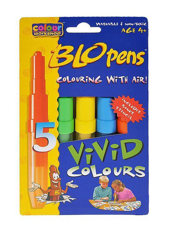 Набор фломастеров Centropen Blopens Vivid, с трафаретом, 5 цветов09-4286Воздушные фломастеры Blopens - настоящие волшебные палочки для юных художников! Фломастеры типа блопен рисуют с помощью воздуха. Просто целься, а затем дуй и получишь неповторимый эффект на бумаге! Ребенок дует в трубочку, заполненную краской, - и лист бумаги или кусок ткани покрывается мелкими точечками. Поменял блопен - и к точкам одного цвета прибавляются другие! Необычный эффект получается, если распылять друг на друга различные цвета, или провести по рисунку влажной кисточкой. Если снять оба колпачка, получается обычный фломастер для рисунка тонкими линиями. Работа с воздушными фломастерами не только разовьет художественный вкус ребенка, но и укрепит дыхательную систему. Характеристики: Длина фломастера: 16 см. Размер упаковки: 20,5 см х 12 см х 2 см. Изготовитель: Чехия. Меры предосторожности: Не распыляйте слишком близко к поверхности листа. Всегда тщательно закрывайте блопены. При распылении делайте периодические...