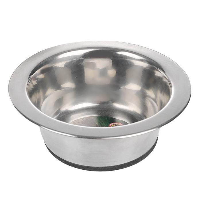 Миска для собак I.P.T.S., стальная, с резиновым дном, 180 мл653570Стальная миска I.P.T.S. для собаки, дно с резиновым покрытием для предупреждения скольжения по любой поверхности. Может использоваться для корма и воды. Диаметр миски: 11 см. Объем миски: 180 мл.