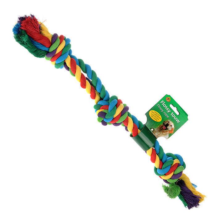 Игрушка для собак I.P.T.S. Канат с 3-мя узлами641142Игрушка для собак I.P.T.S. Канат с 3-мя узлами изготовлена из разноцветного прочного текстиля в виде каната с двумя завязанными узлами на концах и одним узлом посередине, разноцветная. Специальная форма позволяет тренировать и развивать челюсть собаки. Игрушка предназначена для игр с собакой любого возраста. Такая игрушка привлечет внимание вашего любимца и не оставит его равнодушным. Длина: 60 см.