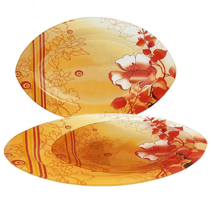 Набор блюд Lillo, 3 шт. S 4501A-3-237115510Набор Lillo состоит из трех блюд овальной формы, выполненных из стекла. Блюда украшены ярким цветочным рисунком. Прекрасно подойдут для подачи салатов, закусок и другого. Изящные блюда прекрасно оформят стол и порадуют ваших гостей изысканным дизайном и формой.