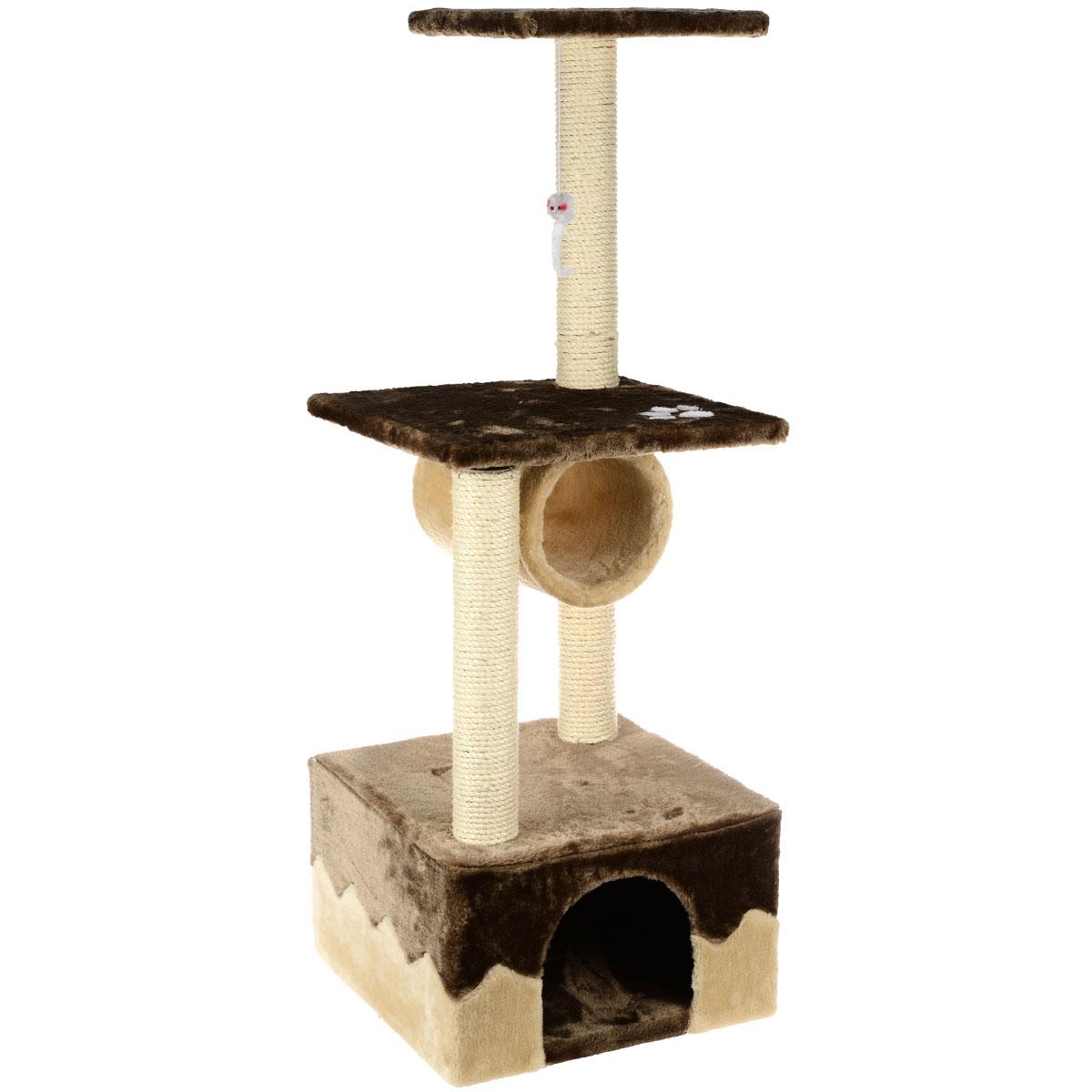 Домик-когтеточка I.P.T.S. Juva, 40 см х 40 см х 109 см16457Домик-когтеточка I.P.T.S. Juva выполнен из высококачественного ДСП, обтянут мягким плюшем и предназначен для активных кошек. Когтеточка состоит из трех уровней. Целый дом будет в распоряжении у вашей кошки. Разные уровни высоты, когтеточка, место для отдыха в игровом комплексе позволят кошке резвится и точить коготки.
