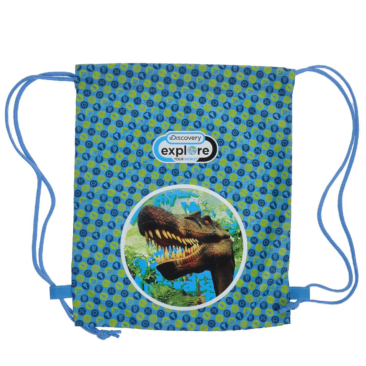 Action! Сумка для сменной обуви Discovery Динозавр цвет голубой салатовыйDV-ASS2300/2