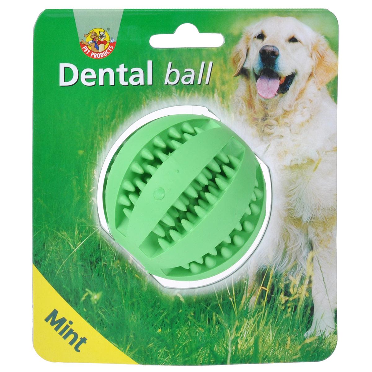 Игрушка для собак I.P.T.S. Мяч массажный, для ухода за зубами, с запахом мяты, диаметр 7 см625407Игрушка для собак I.P.T.S. Мяч массажный изготовлена из прочной цветной резины с мятным запахом в виде мяча. Игрушка оснащена специальными шипами, предназначенными для ухода за зубами. Предотвращает образование зубного камня. Предназначена для игр с собаками любого возраста. Такая игрушка привлечет внимание вашего любимца и не оставит его равнодушным. Диаметр: 7 см.