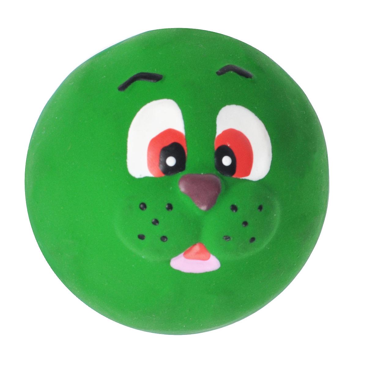 Игрушка для собак I.P.T.S. Мяч с мордочкой животных, цвет: зеленый, диаметр 7 см0120710Игрушка для собак I.P.T.S. Мяч с мордочкой животных, изготовленная из высококачественного латекса, выполнена в виде мячика с милой мордочкой. Такая игрушка порадует вашего любимца, а вам доставит массу приятных эмоций, ведь наблюдать за игрой всегда интересно и приятно. Оставшись в одиночестве, ваша собака будет увлеченно играть.