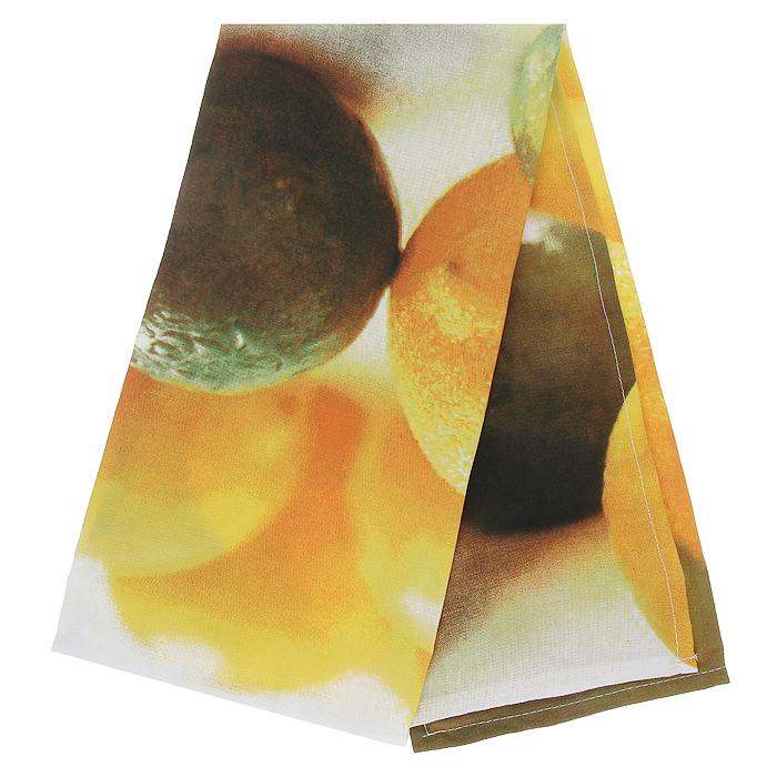 Полотенце кухонное Коллекция Лимон, 50 см х 70 смПТФ-2/лПолотенце Коллекция, выполненное из полиэстера и хлопка, оформлено изображением лимонов и лаймов. Полотенце предназначено для использования на кухне и в столовой. С помощью специальной петельки полотенце можно вешать на крючок. Полотенце Коллекция Лимон - отличный вариант для практичной и современной хозяйки.