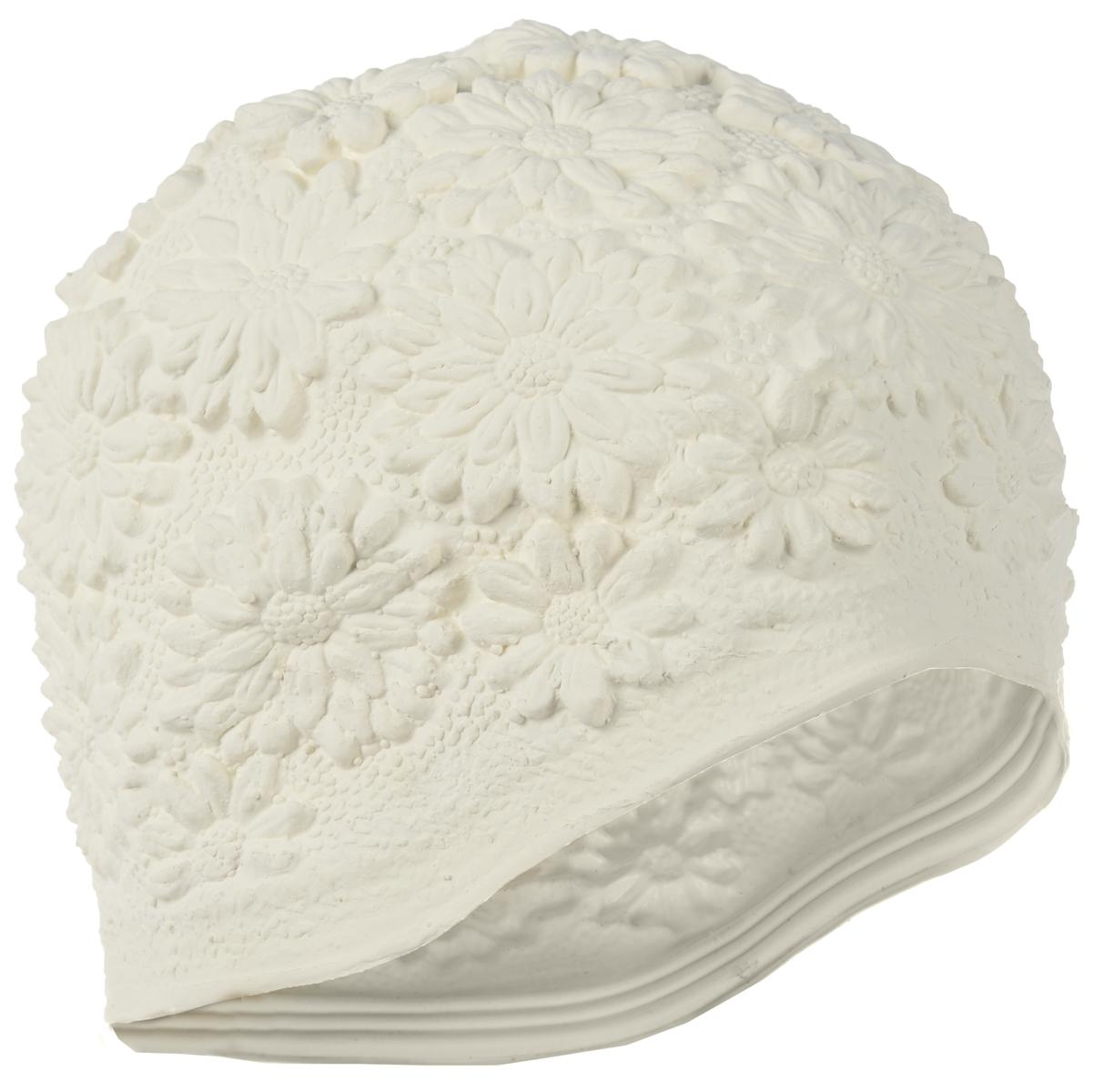 Шапочка для плавания MadWave Hawaii Chrysanthemum, женская, цвет: белыйM0517 02 0 02WЛатексная шапочка для плавания MadWave Hawaii Chrysanthemum декорирована цветочным рельефом. Имеет превосходную эластичность и высокий уровень комфорта. Высококачественный материал обеспечивает долгий срок службы. Пузырьковая поверхность уменьшает площадь соприкосновения с волосами. Обхват головы: 53 см.