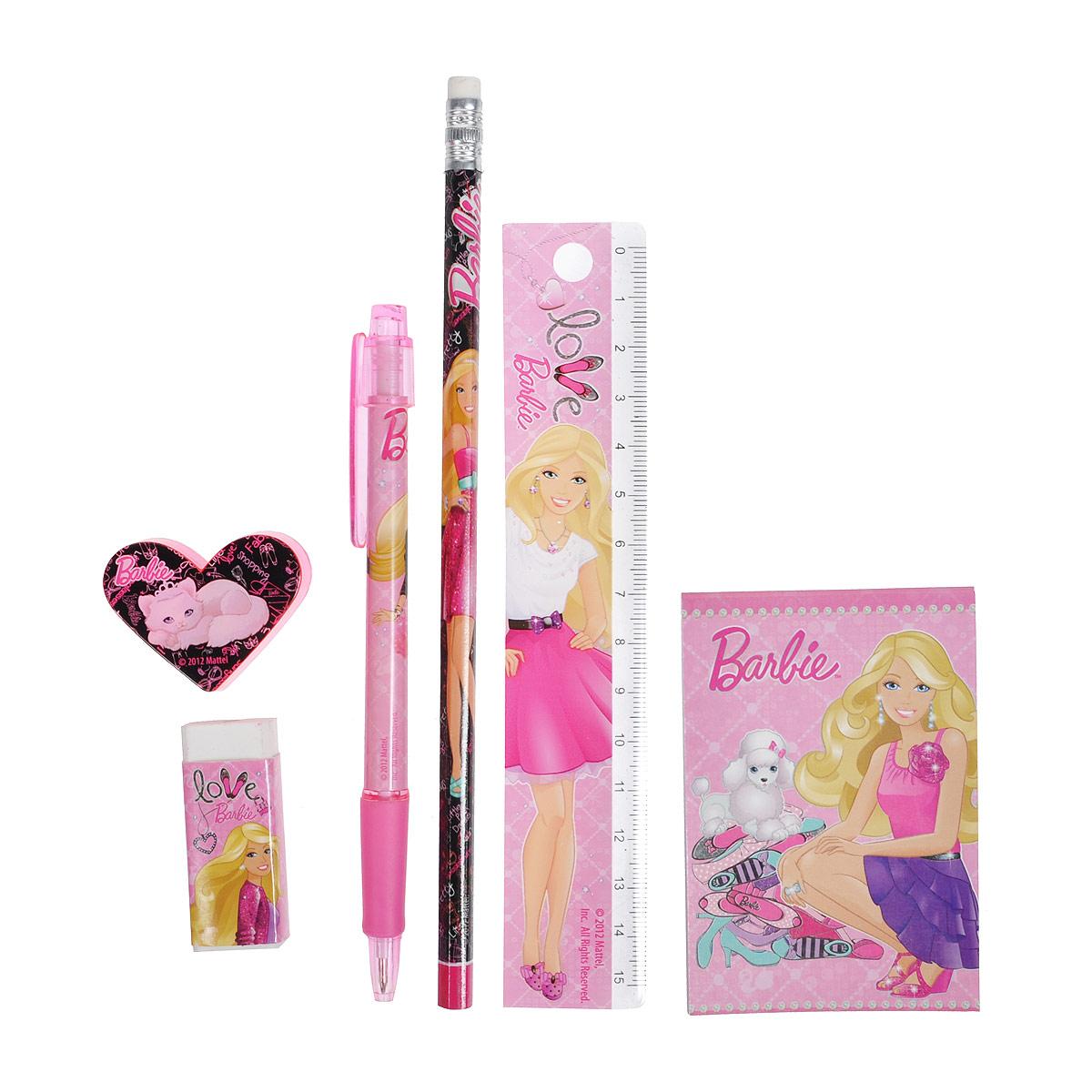"Канцелярский набор ""Barbie"", 7 предметов BRAB-US1-75409-H"