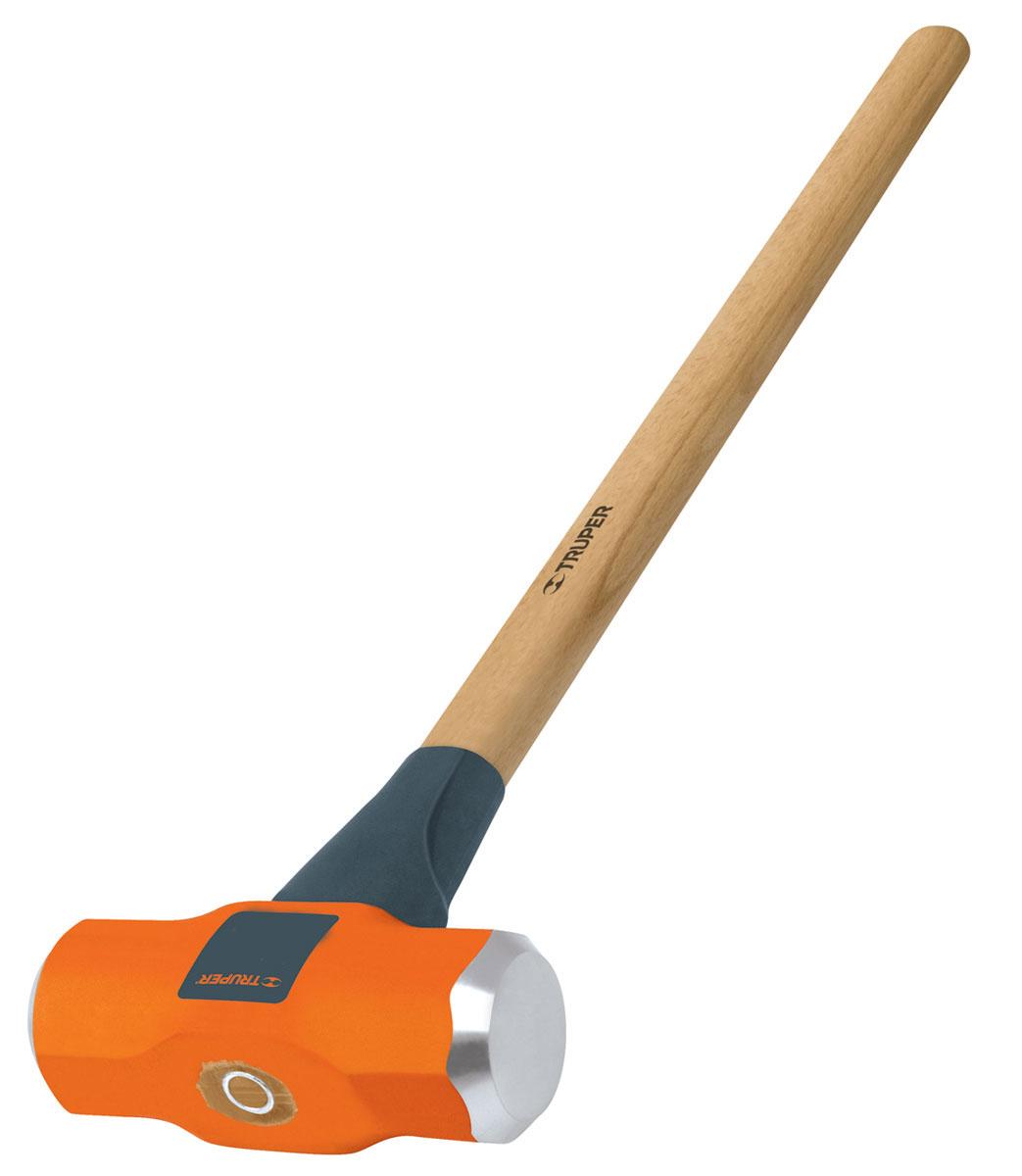Кувалда Truper, с деревянной рукояткой, 3,62 кг98293777Кувалда Truper предназначена для нанесения исключительно сильных ударов при обработке металла, на демонтаже и монтаже конструкций. Деревянная ручка с антишоковой защитой, изготовленная из дуба, обеспечивает надежный хват. Финишная обработка бойка.
