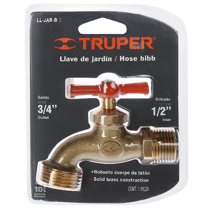 Кран сливной Truper, 1/296515412Сливной кран Truper изготовлен из латуни, благодаря чему имеет высокую прочность.