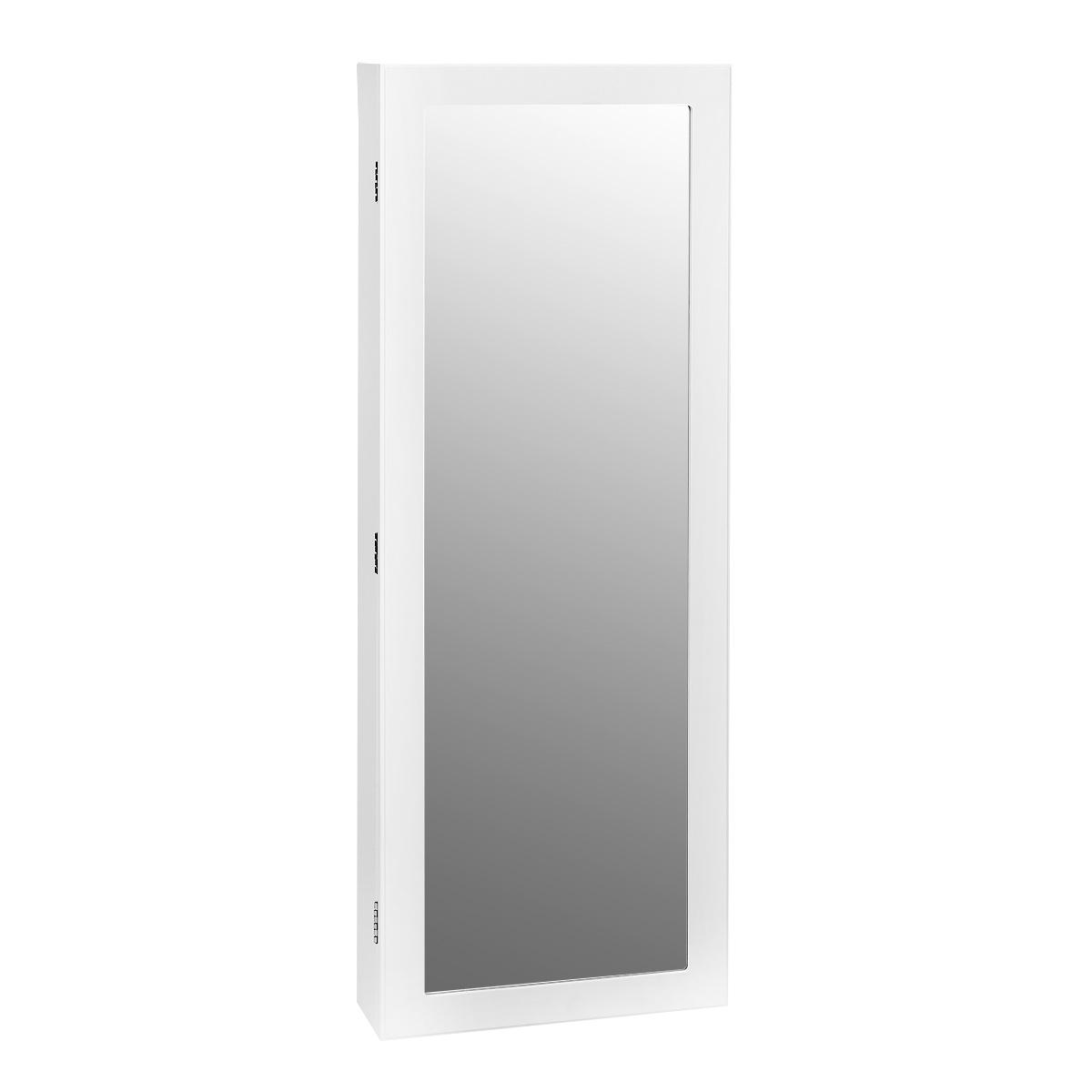 Зеркало-шкаф Bradex Тайник, цвет: белый, 10,5 х 36,8 х 101,5 смTD 0216Тайник - это одновременно и шкаф для бижутерии, и зеркало. Подходящее по габаритам для практически любого помещения, зеркало-шкаф поможет Вам красиво уложить Ваши сокровища, при этом Вы не будете терять украшения и всегда будете иметь весь ассортимент под рукой. Внутри шкафа находится множество крючков. На дверце расположено зеркало, которое украсит Вашу комнату и зрительно увеличит ее. Зеркало-шкаф удобно крепится на стене с помощью входящих в комплект шурупов и дюпелей.