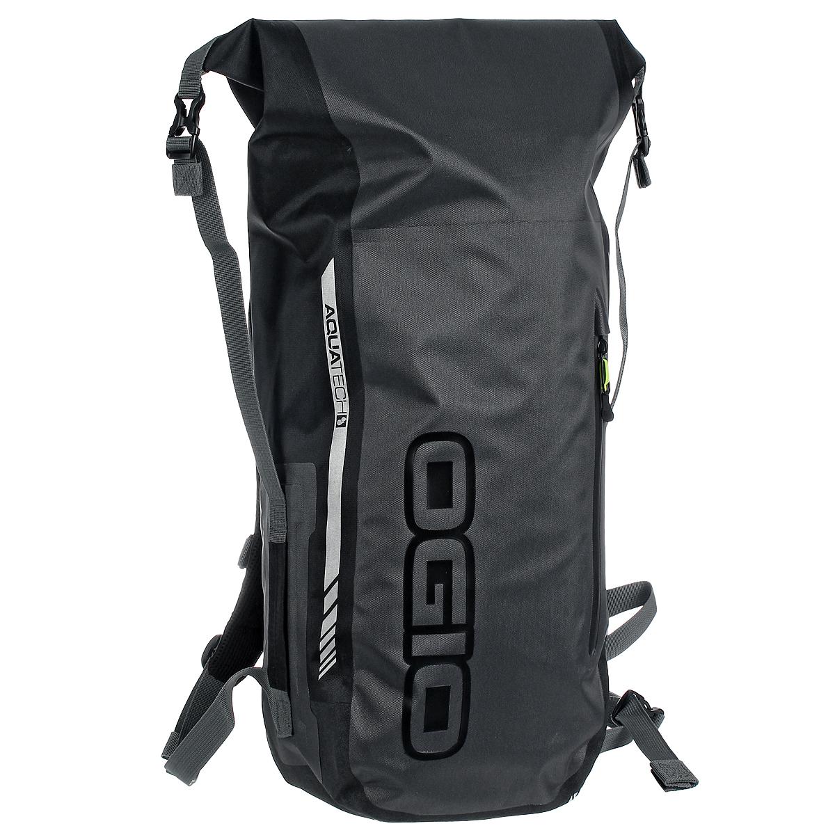 Рюкзак водонепроницаемый Ogio All Elements Pack Stealth, цвет: черныйL-DL90738Ogio All Elements Pack Stealth - полностью водонепроницаемый рюкзак. Большое отделение для ноутбука и планшета. Фронтальный карман быстрого доступа на молнии для мелочей и аксессуаров с прорезиненной молнией. Специальный карман надежно разместит и защитит ноутбуки с диагональю экрана до 15. Двойные наплечные ремни и ремень на грудь с регулятором в двух направлениях. Теперь Вам не страшны дожди и вода, вещи останутся сухими!