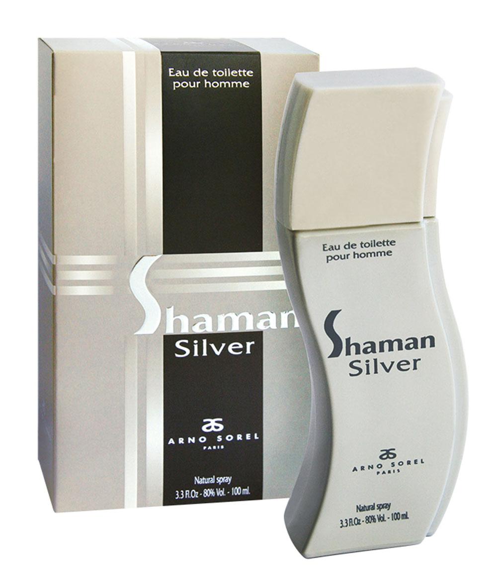 Corania Туалетная вода Shaman Silver, мужская, 100 мл42415Пряный аромат Shaman Silver от Arno Sorel подойдет для ежедневного применения, для уверенного в себе мужчины. Основные ноты: бергамот, черная смородина, гвоздика, перец, пачули, кедр, ветивер, ваниль, амбра, мускус. Ключевые слова Мужественный, таинственный! Туалетная вода - один из самых популярных видов парфюмерной продукции. Туалетная вода содержит 4-10% парфюмерного экстракта. Главные достоинства данного типа продукции заключаются в доступной цене, разнообразии форматов (как правило, 30, 50, 75, 100 мл), удобстве использования (чаще всего - спрей). Идеальна для дневного использования. Товар сертифицирован.
