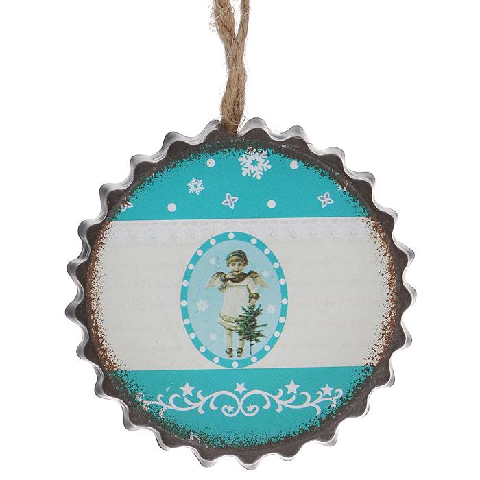 Новогоднее подвесное украшение Ангелок. 3529135291Оригинальное новогоднее украшение в виде ангела прекрасно подойдет для праздничного декора дома и новогодней ели. С помощью специальной петельки его можно повесить в любом понравившемся вам месте. Но, конечно, удачнее всего такая игрушка будет смотреться на праздничной елке. Елочная игрушка - символ Нового года и Рождества. Она несет в себе волшебство и красоту праздника. Создайте в своем доме атмосферу веселья и радости, украшая новогоднюю елку нарядными игрушками, которые будут из года в год накапливать теплоту воспоминаний.