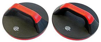 Упоры для отжиманий Lite Weights, поворотные, цвет: черный, красный, 2 шт
